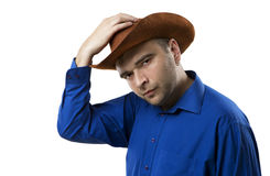 Il cowboy vi accoglie favorevolmente Fotografia Stock Libera da Diritti