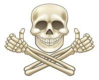 Il cranio del fumetto ed il pirata di tibie incrociate sfoglia su illustrazione vettoriale