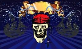 Il cranio del pirata royalty illustrazione gratis