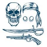 Il cranio di un pirata Fotografia Stock