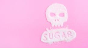 Il cranio fatto di zucchero uccisioni Fotografie Stock Libere da Diritti