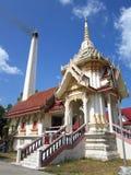 Il crematorio tailandese sta bruciando il cadavere in tempio Fotografie Stock Libere da Diritti