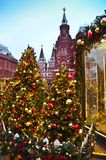 Il Cremlino durante un nuovo anno a Mosca immagine stock