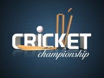 Il cricket mette in mostra il concetto con i ceppi del pipistrello, della palla e del wicket Fotografia Stock Libera da Diritti