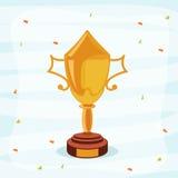 Il cricket mette in mostra il concetto con il trofeo di conquista Immagine Stock
