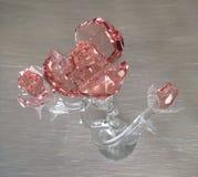 Il cristallo è aumentato fotografia stock libera da diritti