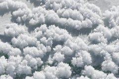 Il cristallo della neve dello sfondo naturale ragruppa il ghiaccio Immagini Stock Libere da Diritti
