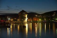 Il Croatia alla notte immagine stock libera da diritti