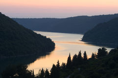 Il Croatia - canale di Limski Fotografie Stock