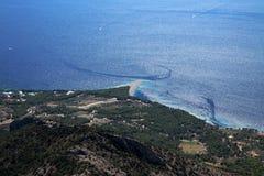 Il Croatia - isola Brac - ratto di Zlatni - capo dorato Fotografia Stock Libera da Diritti