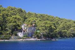 Il Croatia: Paradiso nell'isola di Mljet Fotografia Stock Libera da Diritti