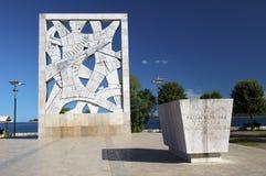 Il Croatia - Rovinj - memoriale di guerra sul quadrato Fotografia Stock