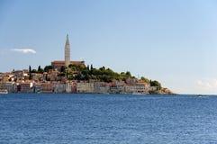 Il Croatia - Rovinj - vecchi città e Mar Mediterraneo Fotografie Stock Libere da Diritti