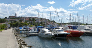 Il Croatia - Vrsar - barche sulla porta Fotografie Stock Libere da Diritti