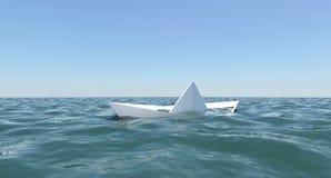Il crogiolo di Libro Bianco sta affondando nell acqua di mare illustrazione  di stock 591b6d7e6c57