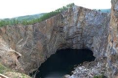 Il crollo di una scogliera in Tuim Fotografia Stock