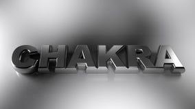 Il cromo metallico di CHAKRA scrive - la rappresentazione 3D royalty illustrazione gratis
