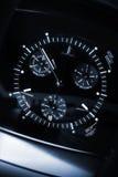 Il cronografo degli uomini di lusso, macro foto Fotografia Stock