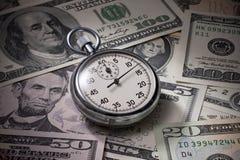 Il cronometro dei soldi di tempo risparmia Immagine Stock Libera da Diritti
