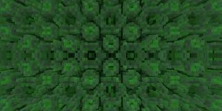 Il cubo 3d espelle fondo di simmetria, la geometria rendere illustrazione di stock