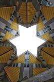 Il cubo dell'architettura di Rotterdam alloggia simmetrico moderno Fotografia Stock