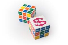 Il cubo di Rubick di ricchezza fotografia stock