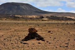 Il culto mistico roccioso firma dentro il deserto Fotografia Stock Libera da Diritti