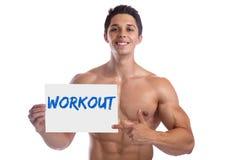 Il culturismo del culturista muscles l'allenamento s della costruzione del costruttore di corpo Fotografia Stock Libera da Diritti