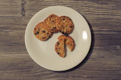 Il cuoco delle caramelle dei dolci dei biscotti cuoce il concetto casalingo del cibo del chil dello spuntino del morso del ciocco Fotografia Stock Libera da Diritti