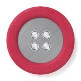 Bottone del metallo & del cuoio illustrazione di stock