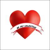 Il cuore è il mio biglietto di S. Valentino Fotografie Stock Libere da Diritti