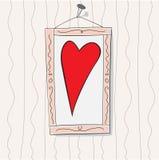 Il cuore Fotografia Stock