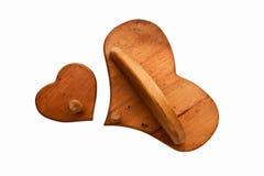 Il cuore accantona due Immagine Stock Libera da Diritti