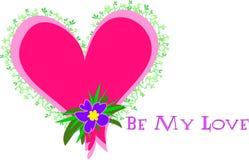 Il cuore con è il mio messaggio di amore royalty illustrazione gratis