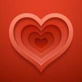 Il cuore cutted fuori modella Modello per il ` s del biglietto di S. Valentino o il giorno delle nozze Immagini Stock