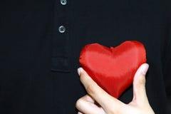 Il cuore dà Fotografia Stock