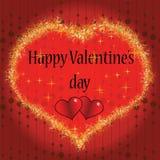 Il cuore del biglietto di S. Valentino Fotografia Stock