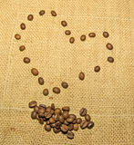 Il cuore del caffè Fotografia Stock Libera da Diritti