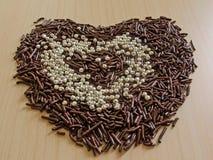 Il cuore del cioccolato Fotografia Stock