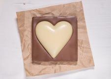 Il cuore del cioccolato Immagini Stock