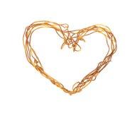 Il cuore del collegare. La decorazione il giorno del biglietto di S. Valentino. Fotografie Stock