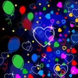 Il cuore del fondo significa Valentine Day And Backgrounds illustrazione vettoriale