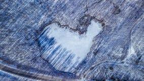 Il cuore dell'inverno Fotografia Stock Libera da Diritti