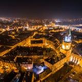 Il cuore della città di notte immagini stock