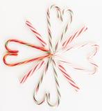 Il cuore della lecca-lecca ha modellato nel fiore Fotografie Stock Libere da Diritti
