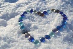 Il cuore della neve Fotografia Stock