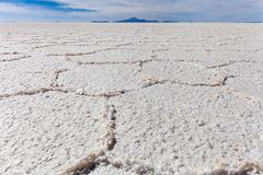 Il cuore della palude d'acqua salata di Salar de Uyuni Fotografia Stock Libera da Diritti