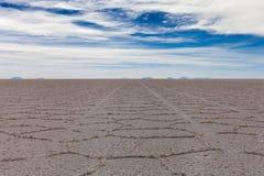 Il cuore della palude d'acqua salata di Salar de Uyuni Fotografie Stock Libere da Diritti