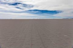 Il cuore della palude d'acqua salata di Salar de Uyuni Immagine Stock Libera da Diritti
