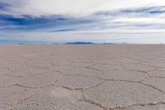 Il cuore della palude d'acqua salata di Salar de Uyuni Fotografia Stock